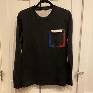 Louis Vuitton Dark Grey Long Sleeve Top